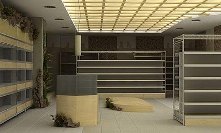 Покупка торговой мебели для зоомагазина