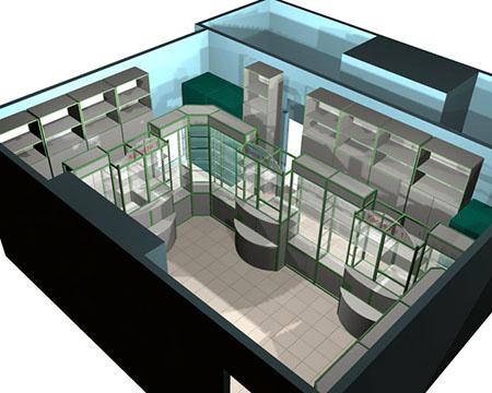 Современная торговая мебель для зоомагазина